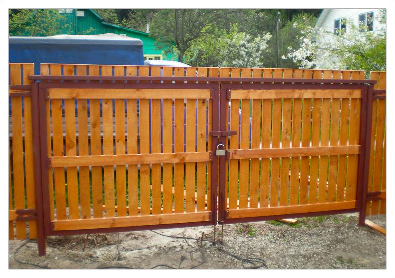 Ворота для дачи своими руками фото 773